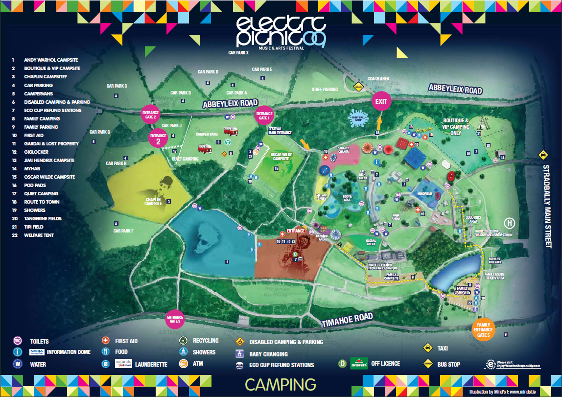 Electric Picnic 2009- Maps |